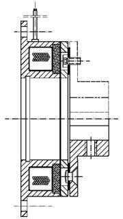 Однодисковый электромагнитный тормоз MCB13