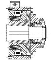 Зубчатые электромагнитные  муфты с пружинным замыканием MZOUL400