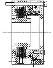Многодисковый пружинный гидравлический тормоз HLOB25